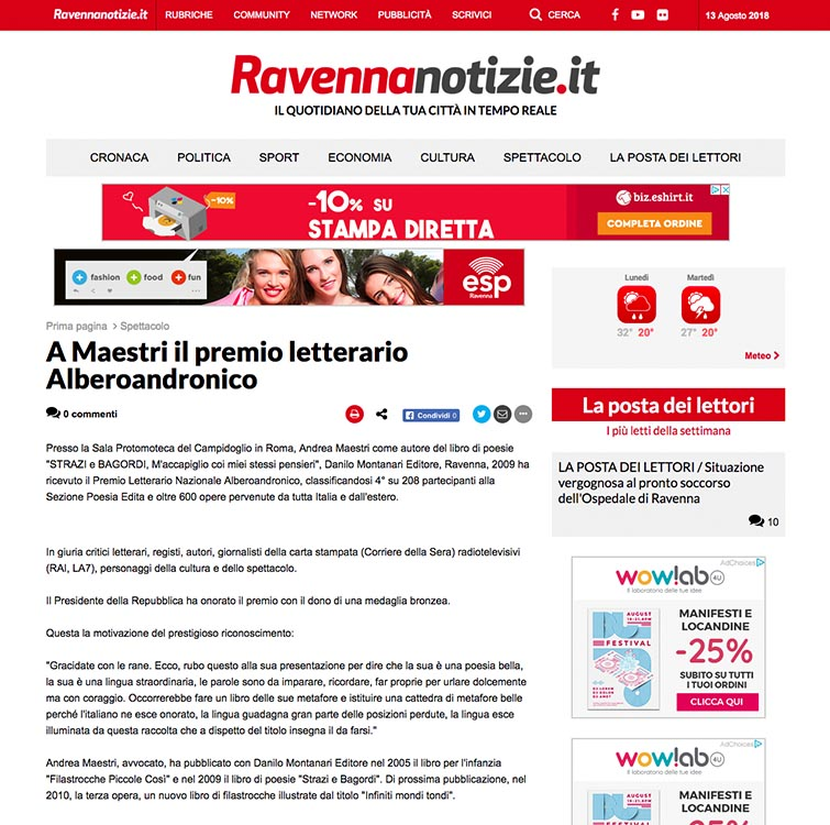 2010, Ravenna Notizie