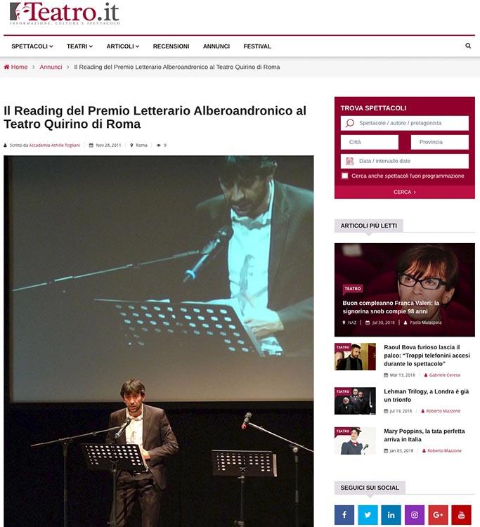 2011, Teatro.it