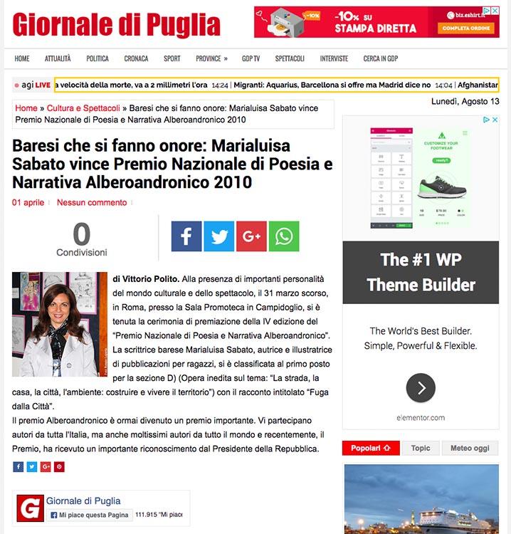 2011, Giornale di Puglia