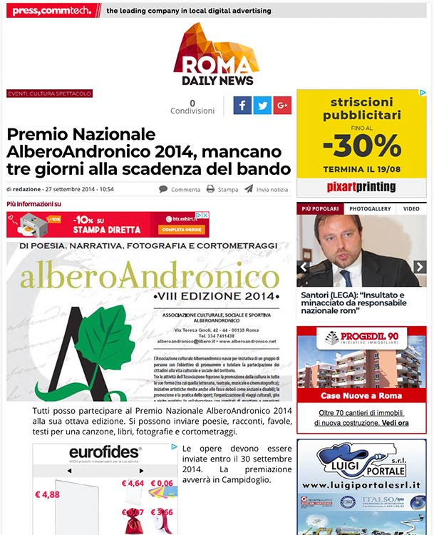2014, Roma Daily News