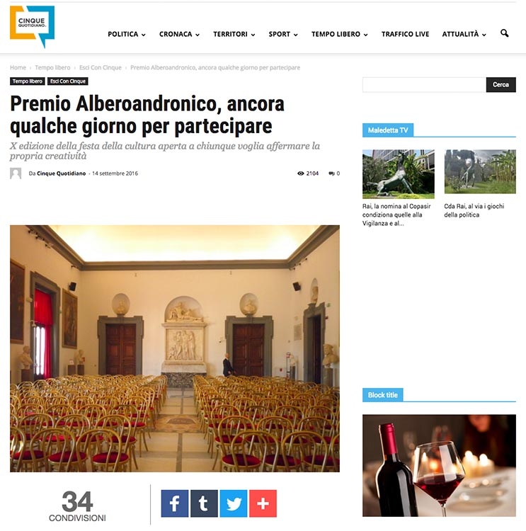 2016, Cinque Quotidiano