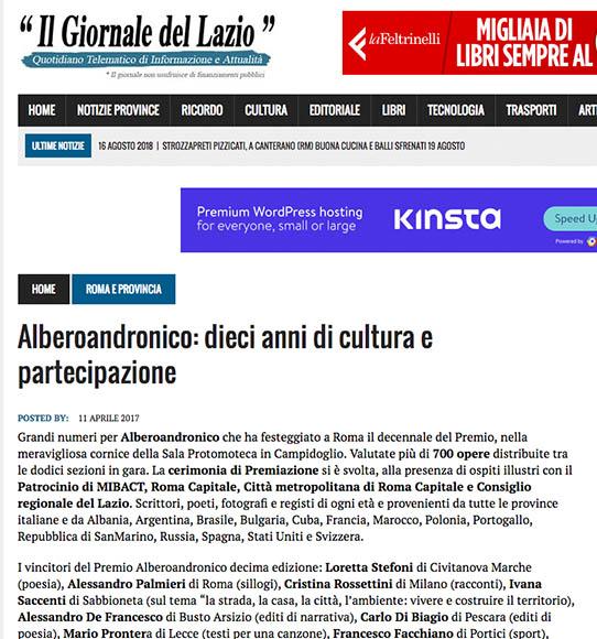 2017, Il Giornale del Lazio