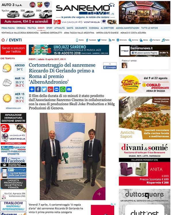 2017, Sanremo News