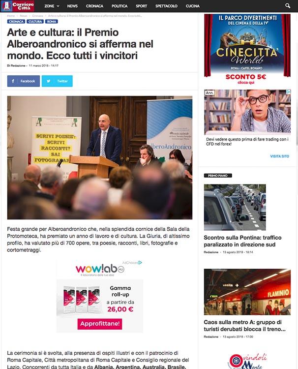 2018, Corriere della Città